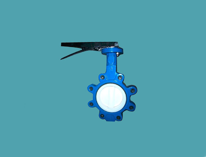 PTFE Coated Lug Type Butterfly Valve